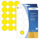 2271 Vielzwecketiketten gelb Ø 32 mm rund Papier matt 480 St.