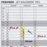Jet Kalender® 70312 selbstklebende Datumstreifen