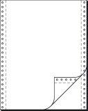 DIN-Computerpapier, 2fach, 12x240 mm (A4 hoch), längsperforiert, 1000 Sätze