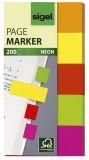 Haftmarker Neon - 50 x 20 mm, 5 Farben, 200 Streifen