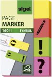 Haftmarker Symbol - 50 x 20 mm, 4 Farben, 160 Streifen