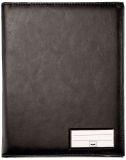 Einband für Formularbücher, Lederoptik schwarz, matt, für A5