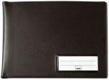 Einband für Formularbücher, Lederoptik schwarz, matt, für A6 q