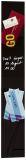 Glas-Magnetboard artverum®, schwarz, 12 x 78 cm