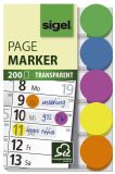 Haftmarker Folie Klebepunkte - 50 x 12 mm, 5 Farben, 200 Streifen