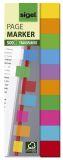 Haftmarker Folie Multicolor - 125 x 44 mm, 10 Farben, 500 Streifen