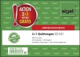 2 + 1 Aktion Quittungen mit Sicherheitsdruck - A6 quer. SD. MP. 2 x 40 Blatt