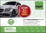 2 + 1 Aktion Fahrtenbuch für Pkw - mit Klammerheftung. A6 quer. 40 Blatt