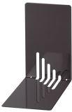 Buchstützen aus Metall. schmal. 85 x 140 x 140 mm. schwarz. Pack mit 2 Stück