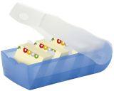 Karteibox CROCO, DIN A8, für 500 Karten, incl. 5 Stützplatten, blau-transluzent