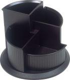 Multiköcher linear. drehbar. 4 Fächer. 150 x 112 mm. schwarz