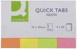 Haftmarker Neon - 20 x 50 mm, 4 x 40 Streifen