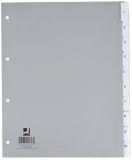 Register - blanko, PP, A4 Überbreite, 10 Blatt, grau