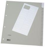 Register - blanko, PP, A4 Überbreite, 12 Blatt, grau