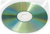 CD/DVD-Hüllen selbstklebend - ohne Lasche, transparent, Packung mit 10 Stück
