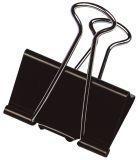 Foldback-Klammern - 19 mm, Klemmvolumen 7 mm, schwarz, 10 Stück