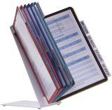 Sichttafelständer VARIO® TABLE 10 - Tischständer, 10 Sichttafeln A4, sortiert