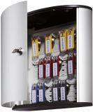 Schlüsselkasten KEY BOX - 18 Haken, mit Zylinderschloss, grau