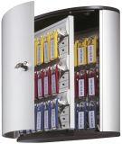Schlüsselkasten KEY BOX - 36 Haken, mit Zylinderschloss und Panel, grau