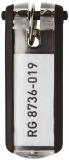 Schlüsselanhänger KEY CLIP - schwarz - Beutel mit 6 Stück