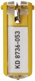 Schlüsselanhänger KEY CLIP - gelb - Beutel mit 6 Stück