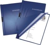 Bewerbungsmappe mit Clip, Hart-/Weichfolie, A4, 30 Blatt, dunkelblau