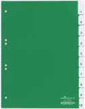Register - Hartfolie, blanko, grün, A4, 10 Blatt