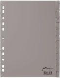 Register - PP, blanko, grau, A4, 12 Blatt