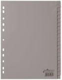 Register - PP, blanko, grau, A4, 20 Blatt