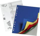 Register - PP, blanko, farbig, A4, 5 Blatt