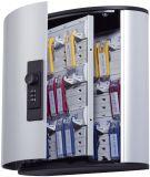 Schlüsselkasten KEY BOX - 36 Haken, mit Zahlenschloss und Panel, grau