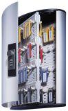 Schlüsselkasten KEY BOX - 72 Haken, mit Zahlenschloss und Panel, grau