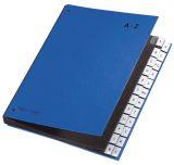 Pultordner Color-Einband - Tabe A - Z, 24 Fächer, Farbe blau