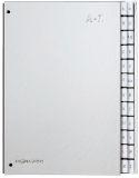 Pultordner Color-Einband - Tabe A - Z, 24 Fächer, Farbe silber