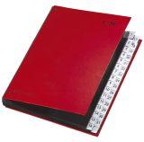 Pultordner Color-Einband - Tabe 1 - 31, 32 Fächer, Farbe rot