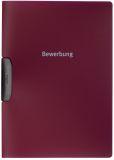 Bewerbungsmappe DURASWING® JOB,30 Blatt, aubergine/d.rot, 5 St.