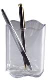 Stifteköcher TREND - 80 x 102 mm. transparent grau