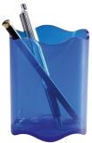 Stifteköcher TREND - 80 x 102 mm. transparent blau