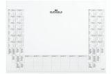 Kalenderblock 25 Blatt für Schreibunterlage 7291