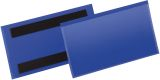 Kennzeichnungstasche - magnetisch, 150 x 67 mm, PP, dokumentenecht, dunkelblau, 50 Stück