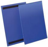 Kennzeichnungstasche - magnetisch, A4 hoch, PP, dokumentenecht, dunkelblau, 50 Stück