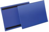 Kennzeichnungstasche - magnetisch, A4 quer, PP, dokumentenecht, dunkelblau, 50 Stück