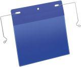 Kennzeichnungstasche mit Drahtbügel - A5 quer, 50 Stück