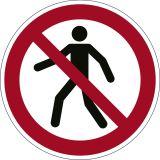 Bodenmarkierungssymbol  Für Fußgänger verboten  - Ø 430 mm, abriebfest