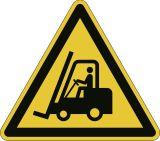 Bodenmarkierungssymbol  Warnung vor Flurförderzeugen  - Kantenlängen 430 mm, abriebfest