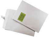 Versandtaschen C4 , mit Fenster, gummiert, 100 g/qm, weiß, 250 Stück