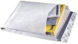 Faltentaschen aus Tyvek® B4, mit 38 mm-Falte, Spitzboden, 55 g/qm, weiß, 100 Stück