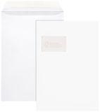 Versandtaschen, m. Fenster, 100 g/qm, C4 (229x324 mm), 100 Stück, haftklebend