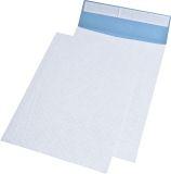 Faltentaschen C4 fadenverstärkt, ohne Fenster, mit 40 mm-Falte und Klotzboden, 140 g/qm, weiß, 100 Stück