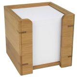 Zettelbox mit Papier - Bambus